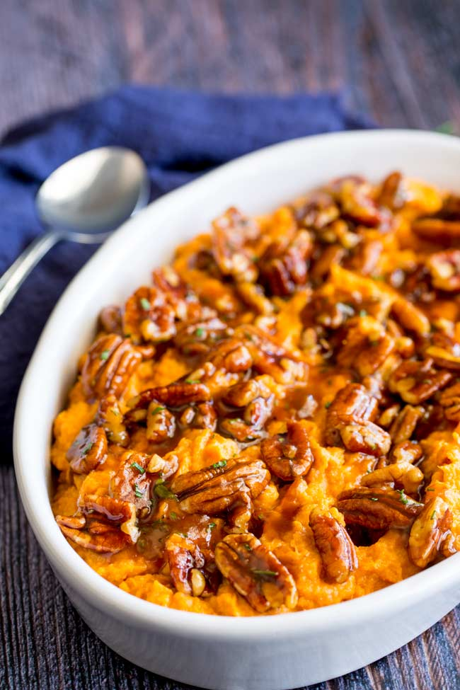 Whipped Sweet Potato Mash with Maple, Pecan and Rosemary by Sprinkles & Sprouts