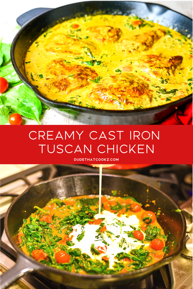 Creamy Cast Iron Tuscan Chicken