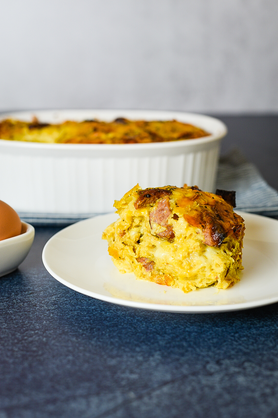 Turkey Sausage Hash Brown Breakfast Casserole