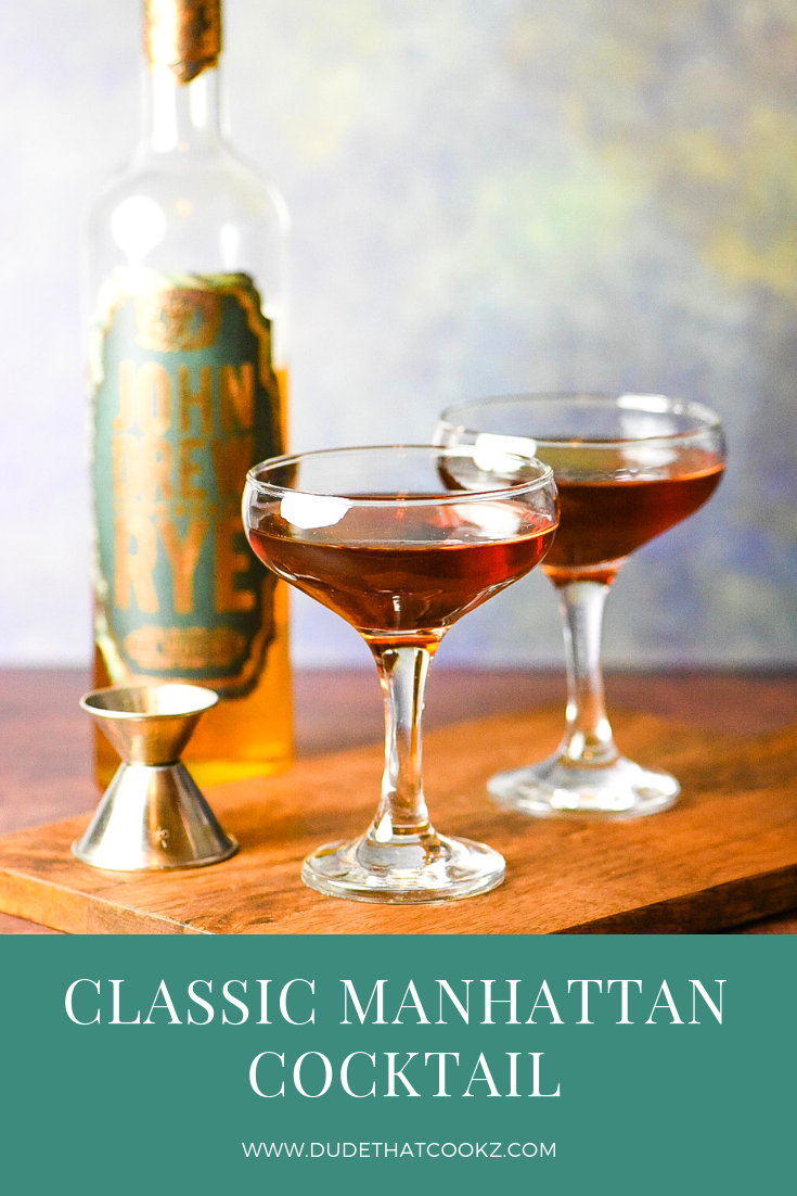 The Classic Manhattan blends sweet vermouth with bitters and the strength of a Rye whiskey to create a boozy and delicious cocktail. #cocktails #cocktailrecipe #manhattancocktail #boozy #ryewhiskey #ryewhisky