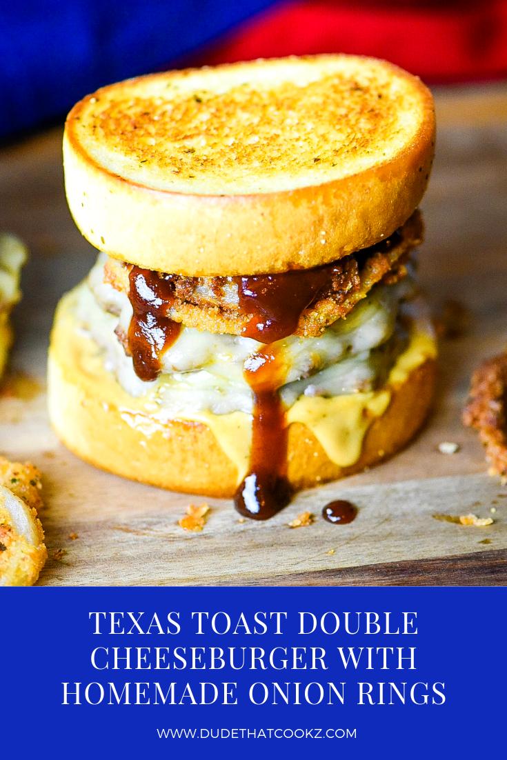 Texas Toast Double Cheeseburger