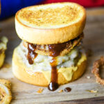 Texas Toast Double Cheeseburger