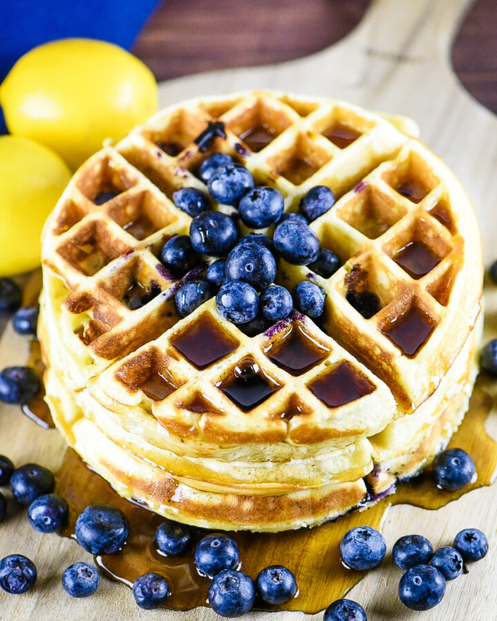 Blueberry Lemonade Belgian Waffles