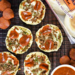 Turkey Pepperoni & Beef English Muffin Pizzas