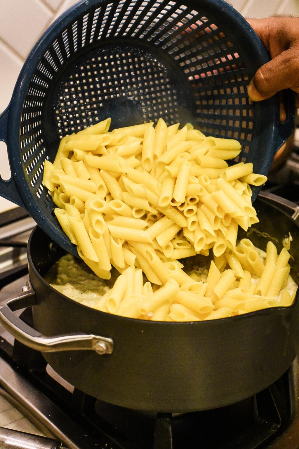 Gluten-Free Chicken Gouda Penne Pasta | Dude That Cookz