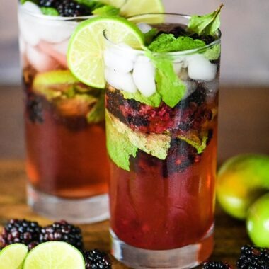 Blackberry Mojito Cocktail