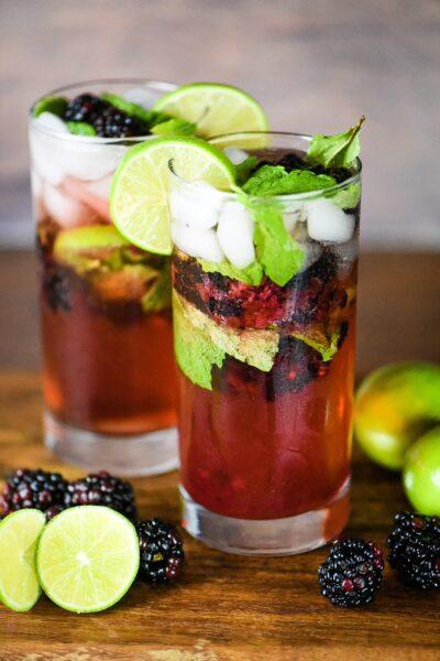 Blackberry Mojito Cocktail