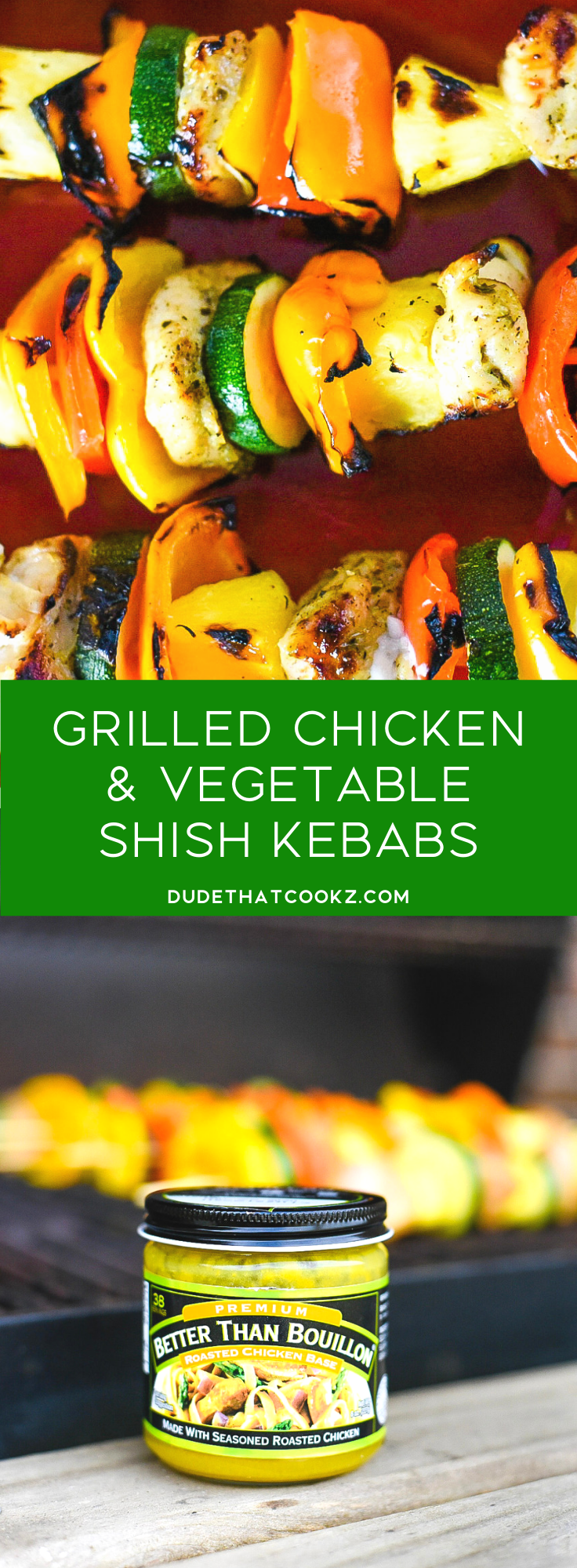 Grilled Chicken & Vegetable Shish Kebabs