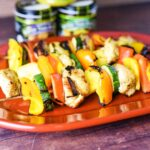 Grilled Chicken Vegetable Shish Kebabs