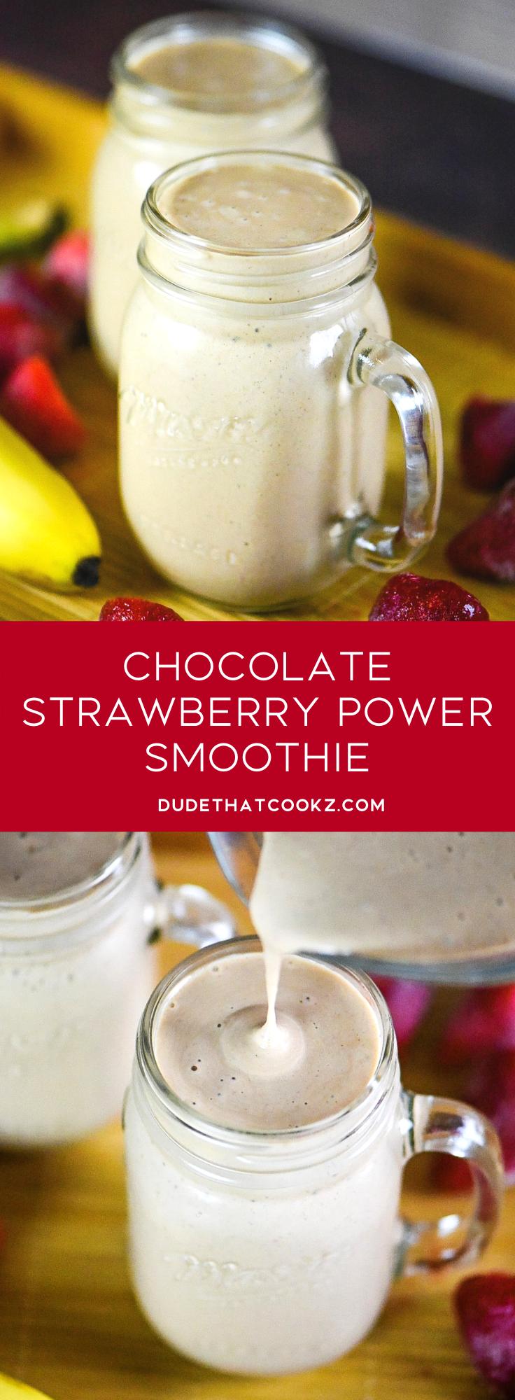 Chocolate Strawberry Power Smoothie