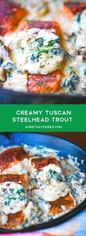 Creamy Tuscan Steelhead Trout