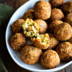 arancini balls stuffed with smoked mozzarella