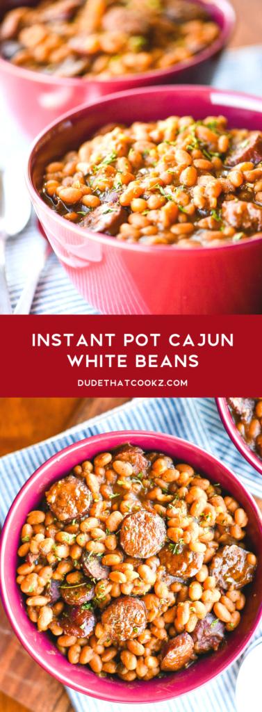 Instant Pot Cajun White Beans