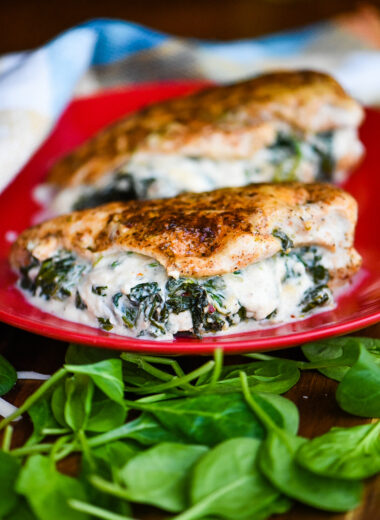 Creamed Spinach Stuffed Chicken Breast