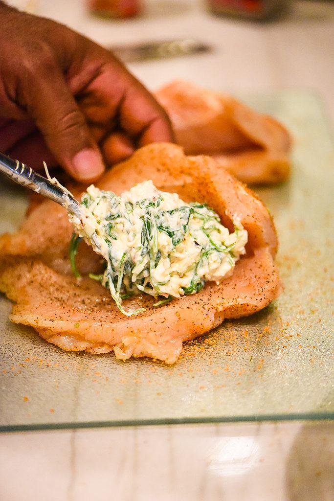 Creamed Spinach Stuffed Chicken Breast