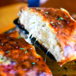 Ground Chicken Three-Cheese Stromboli