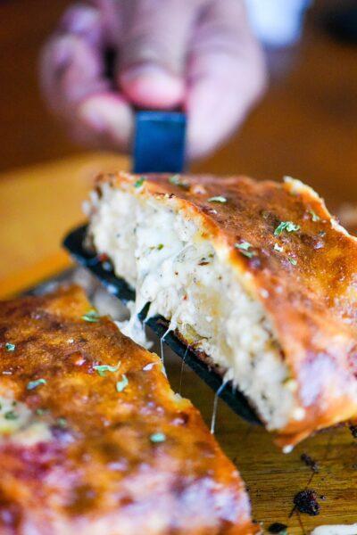 Ground Chicken Three-Cheese Stromboli