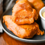 Beer Battered Cod with Sriracha Tartar Sauce
