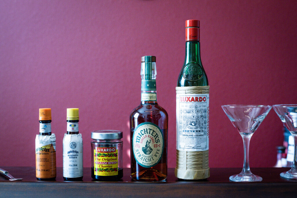 Fancy Free cocktail ingredients