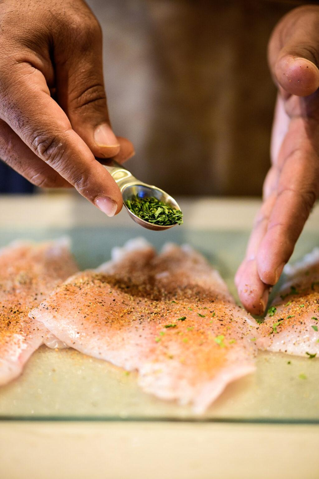 seasoning flounder