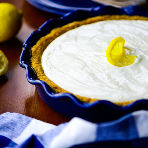 Whole lemon cream pie