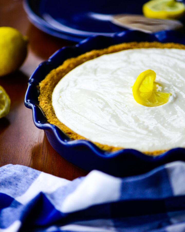 Whole lemon cream pie