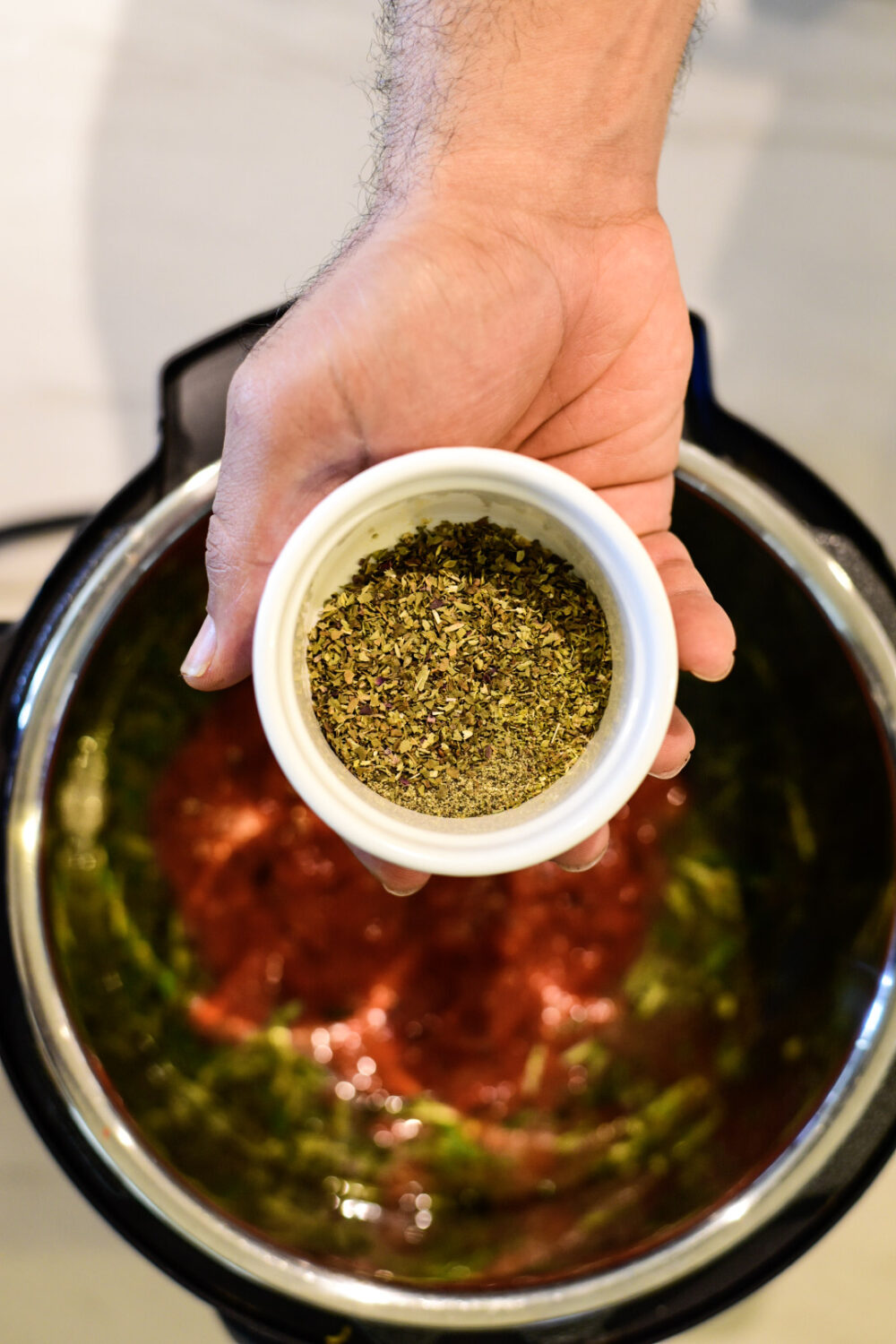 Adding seasonings to the Instant Pot