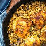 One Pan Chicken and Mushroom Orzo