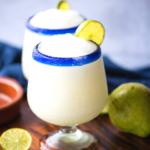 Pinterest image of frozen pear margarita