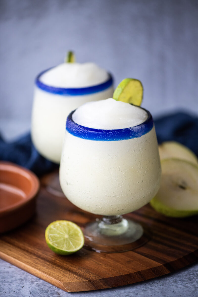Close up on pear margarita