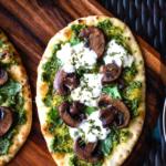 Mushroom Pesto Flatbread Pizza (1)