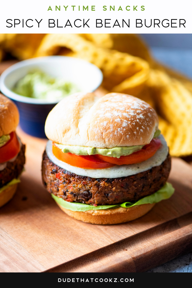 Spicy Black Bean Burger
