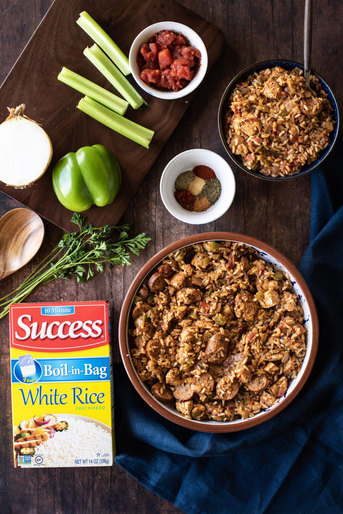 Creole Chicken Sausage Jambalaya with Success Rice