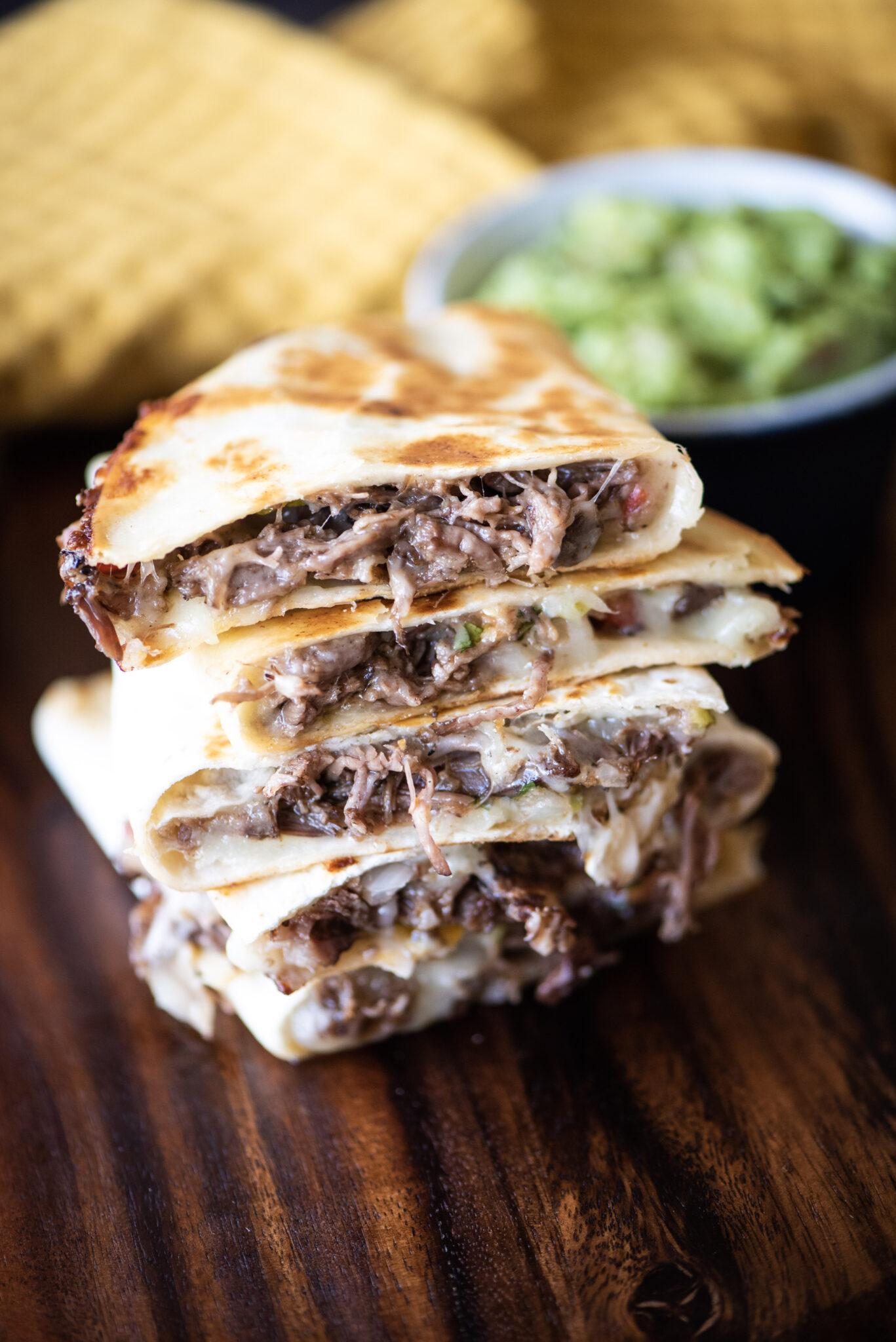 Beef short ribs quesadillas