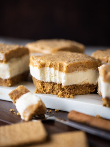 No Bake Sweet Potato Cheesecake Bars