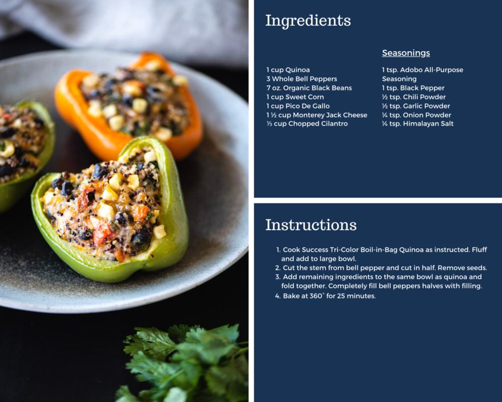 Quinoa Stuffed Peppers recipe instructions