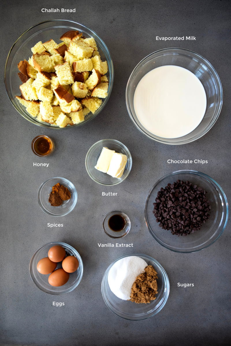 bread pudding ingredients