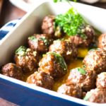 meatballs with sage brown butter sauce