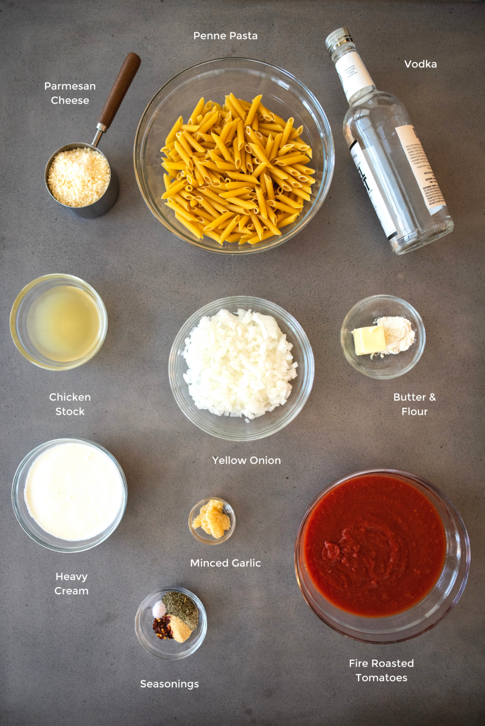 penne alla vodka ingredients