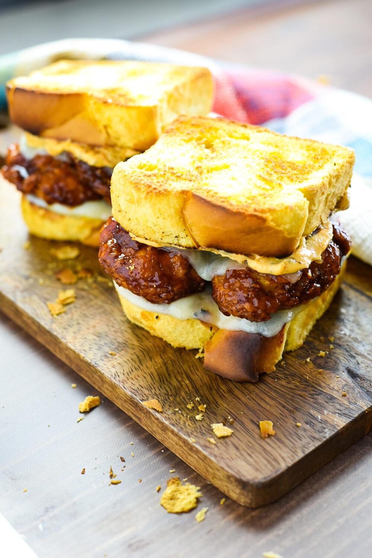 Two honey crispy chicken sandwiches