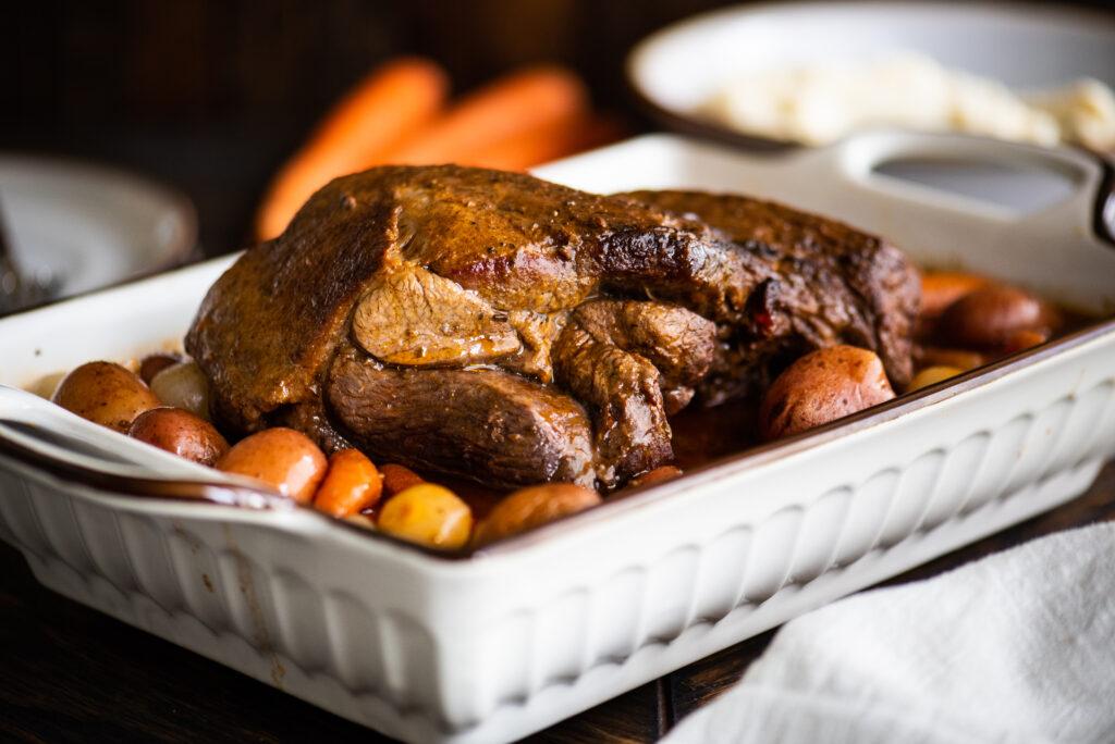 whole roasted leg of lamb