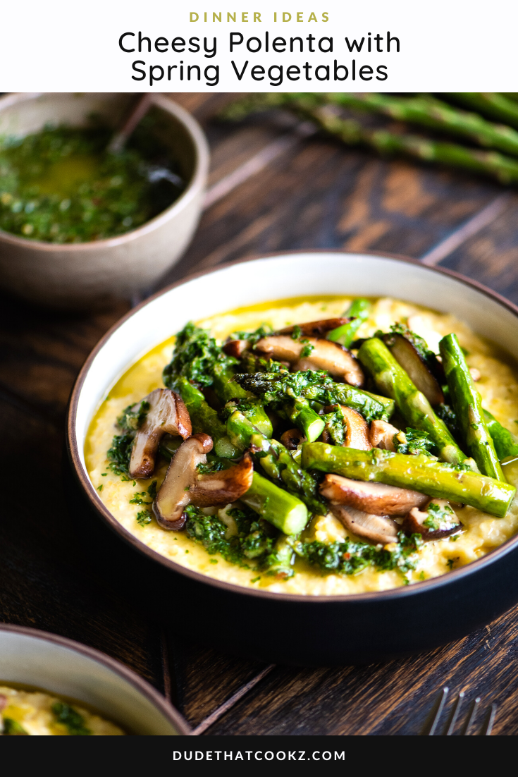 Cheesy Polenta with Spring Vegetables