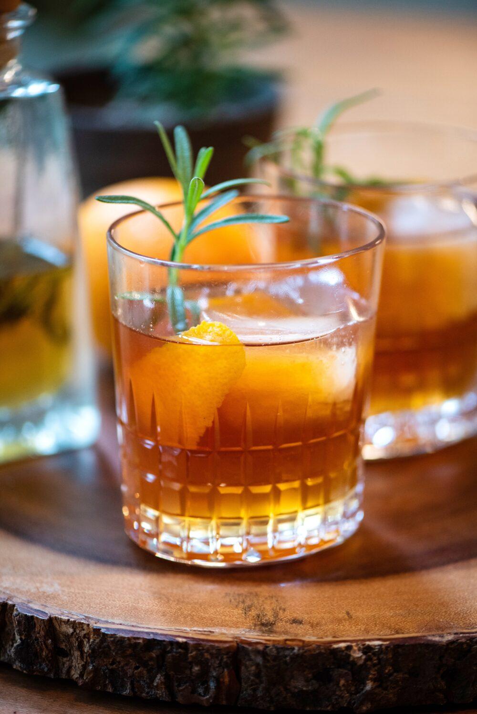 rosemary honey whiskey rye cocktail