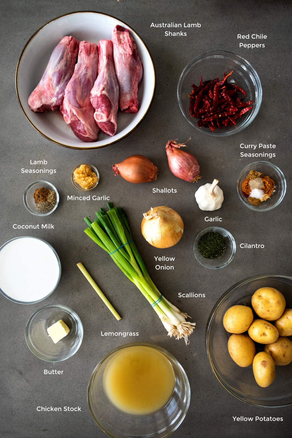 curry lamb shank ingredients