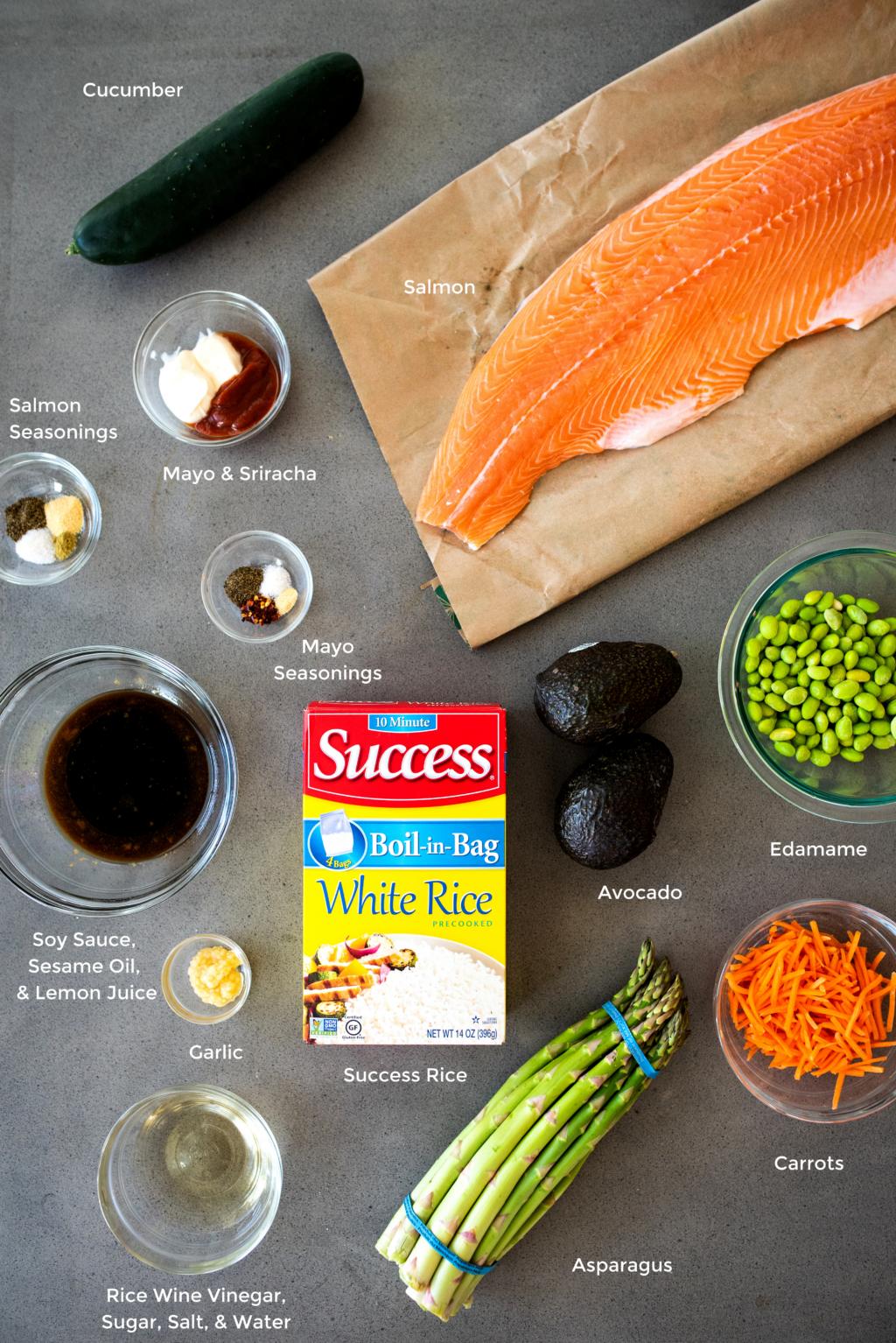 salmon poke bowl ingredients