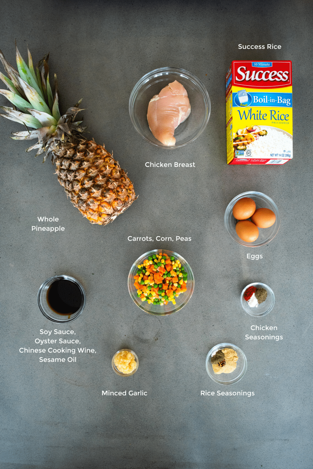 pineapple chicken fried rice ingredients