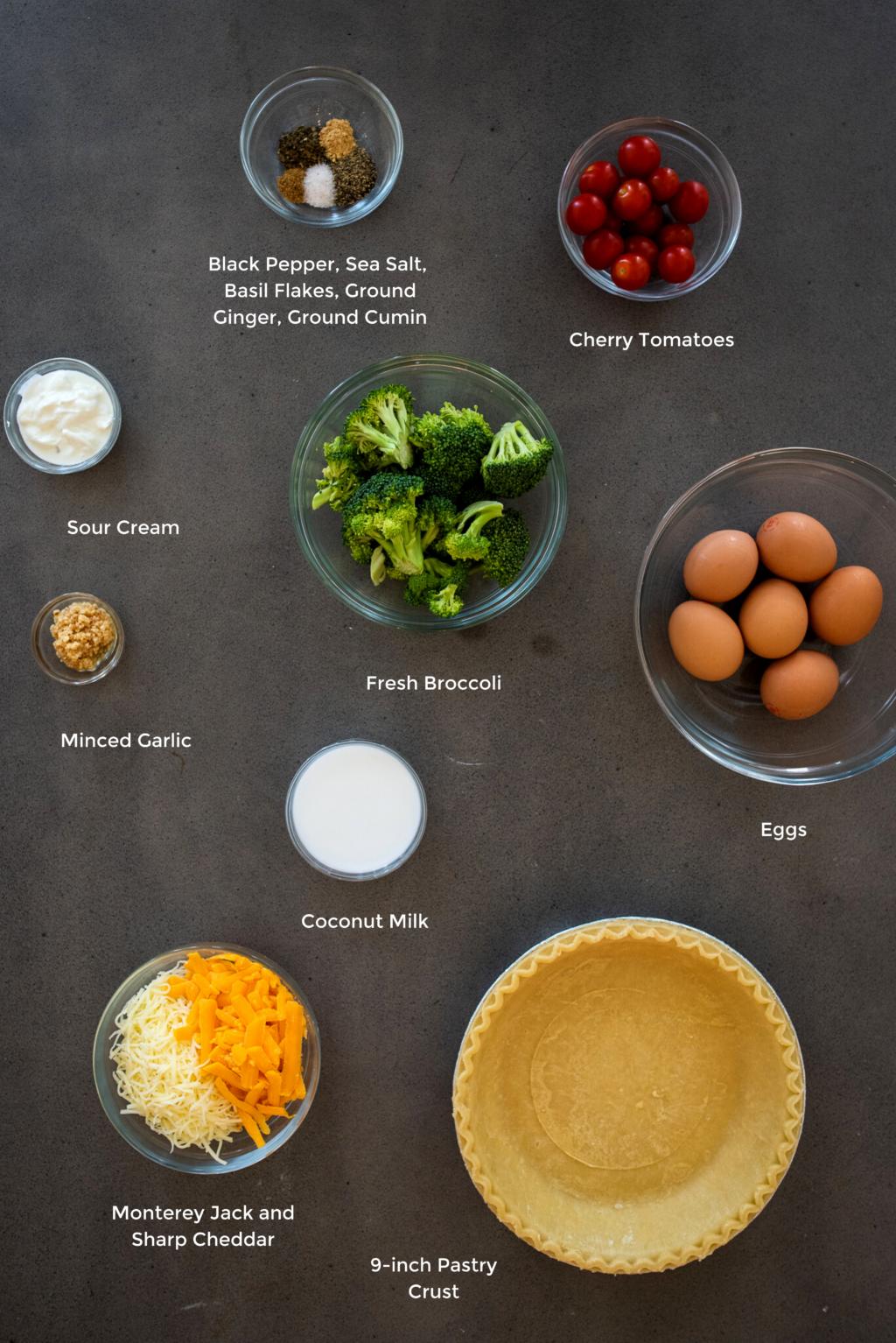broccoli tomato quiche ingredients