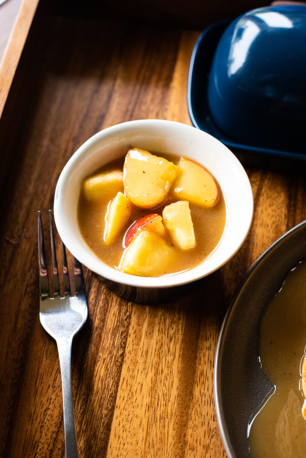 small bowl of caramelized apples
