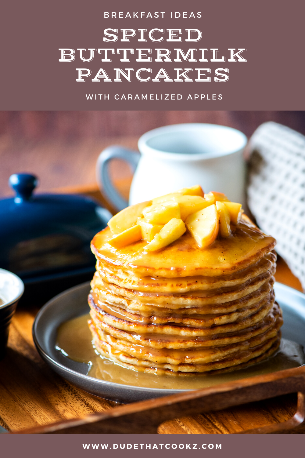 Spiced Buttermilk Pancakes with Caramelized Apples