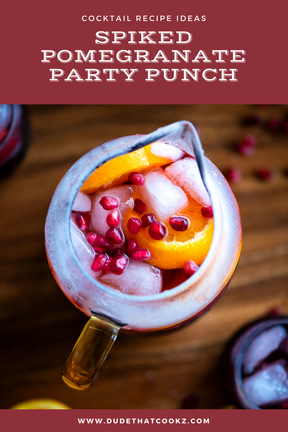 Spiked Pomegranate Party Punch